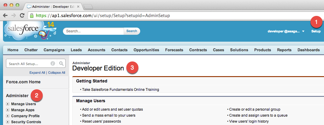 Check Salesforce Edition through Setup -> Administer