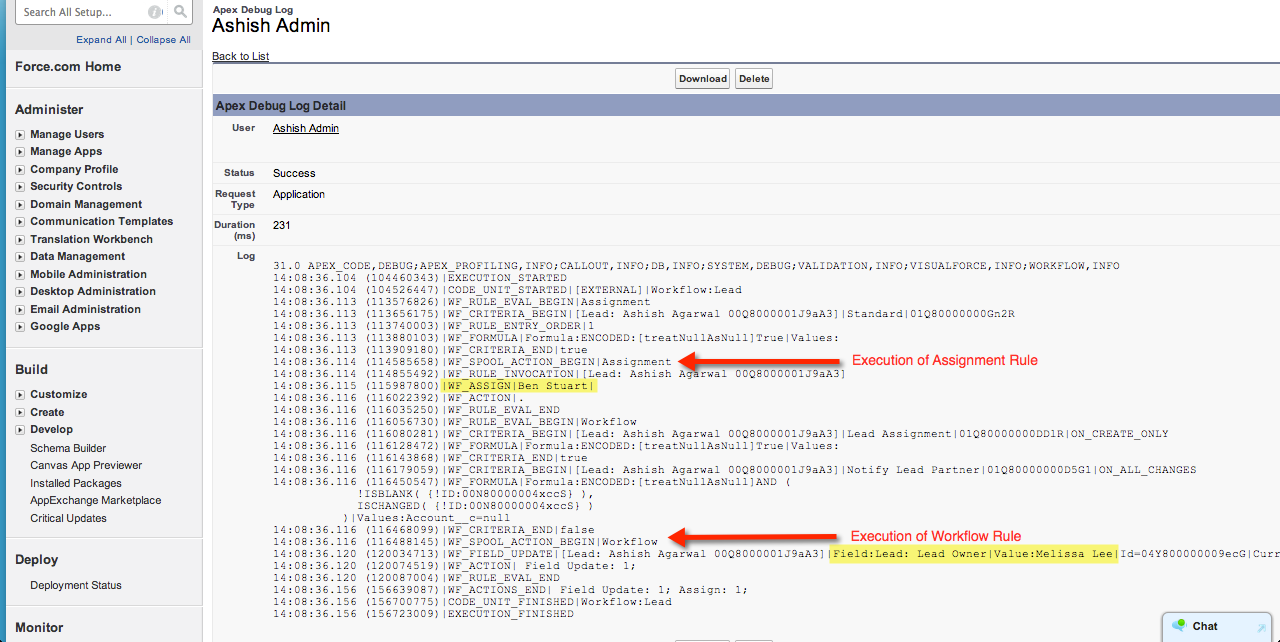 Diagnose the Order of Execution in Salesforce with Debug Log