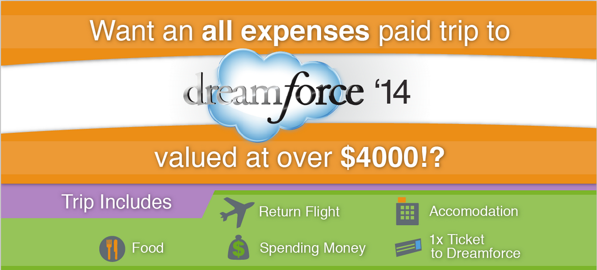 Win an all expenses paid trip to Dreamforce 2014